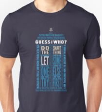 "Doctor Who TARDIS Quotes shirt - Eleventh Doctor ""Pandorica"" Version T-Shirt"