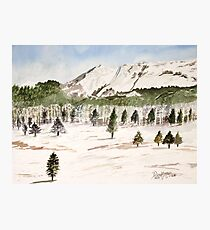Pikes Peak Mountains Painting Photographic Print