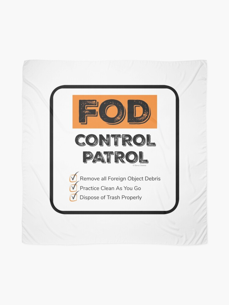 Alternate view of FOD Control Patrol Scarf