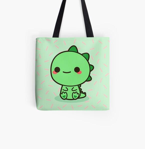Kawaii Dinosaur All Over Print Tote Bag