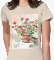 Sweet Geranium Womens Fitted T-Shirt