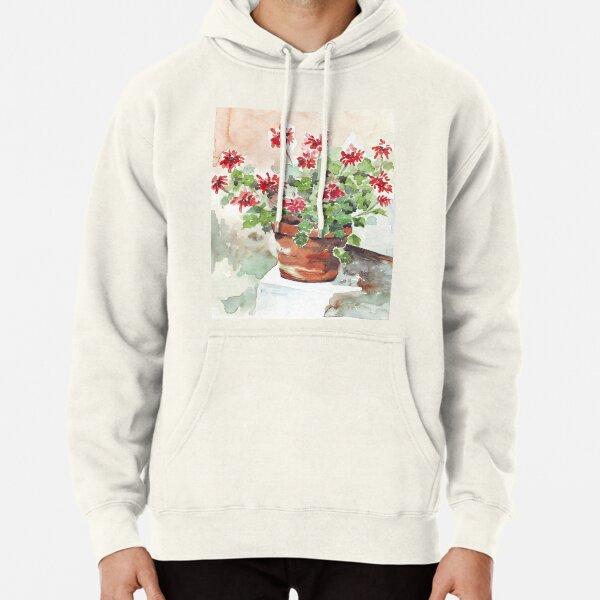 Sweet Geranium Pullover Hoodie