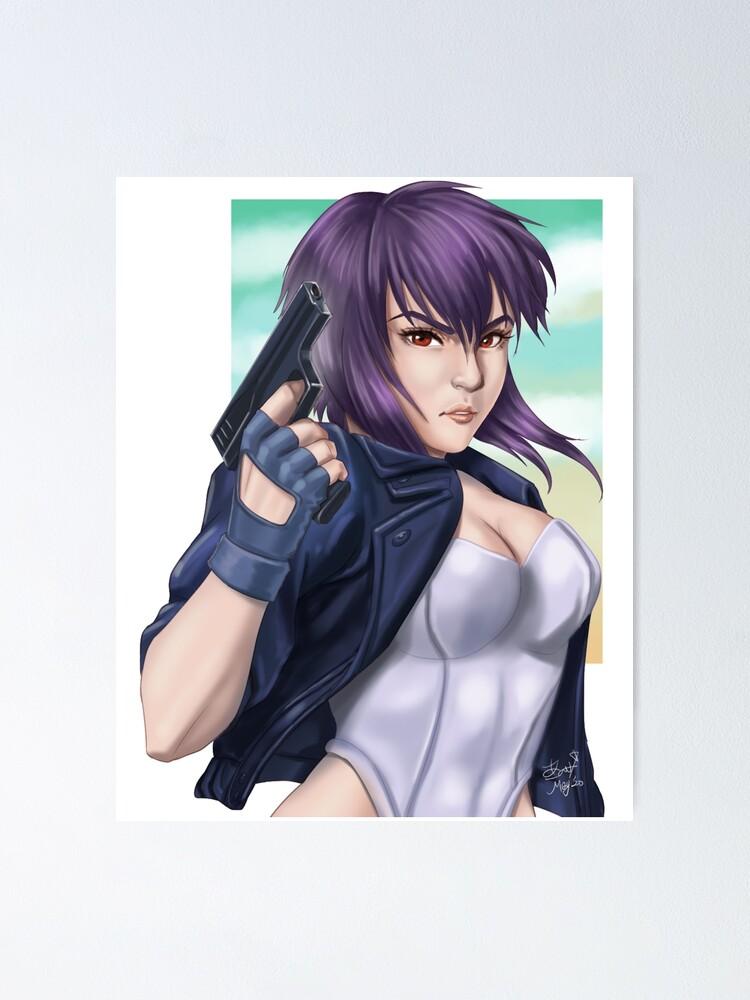 Major Motoko Kusanagi Ghost In The Shell Anime Cyborg Fan Art Poster By Jovak Redbubble