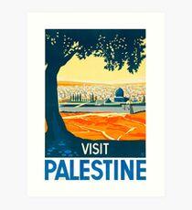Visit Palestine Vintage Travel Poster Art Print