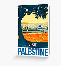 Visit Palestine Vintage Travel Poster Greeting Card