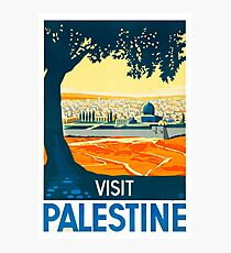 Visit Palestine Vintage Travel Poster Photographic Print