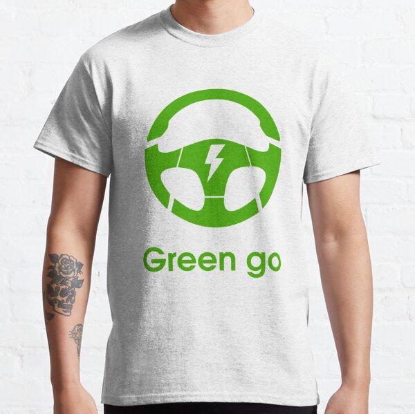 electric car steering wheel green go Classic T-Shirt