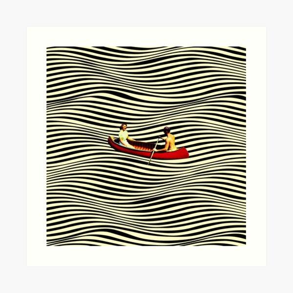 Illusionary Boat Ride Art Print
