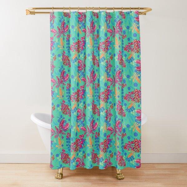 Happy Australian Plants - green Shower Curtain