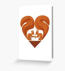 Squirrel Lovers Greeting Card