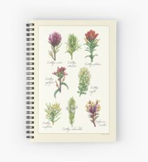 Castilleja Wildblumen Spiralblock