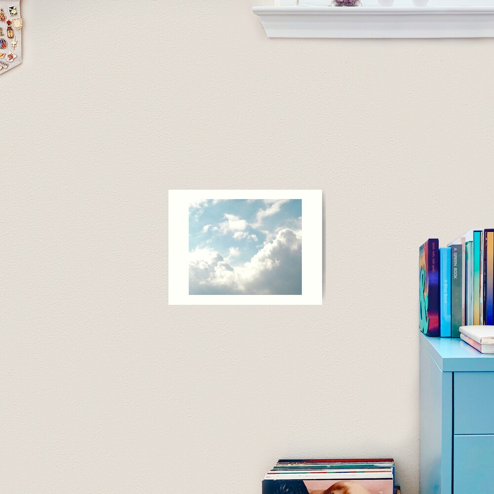 Shiny blue and white clouds Art Print