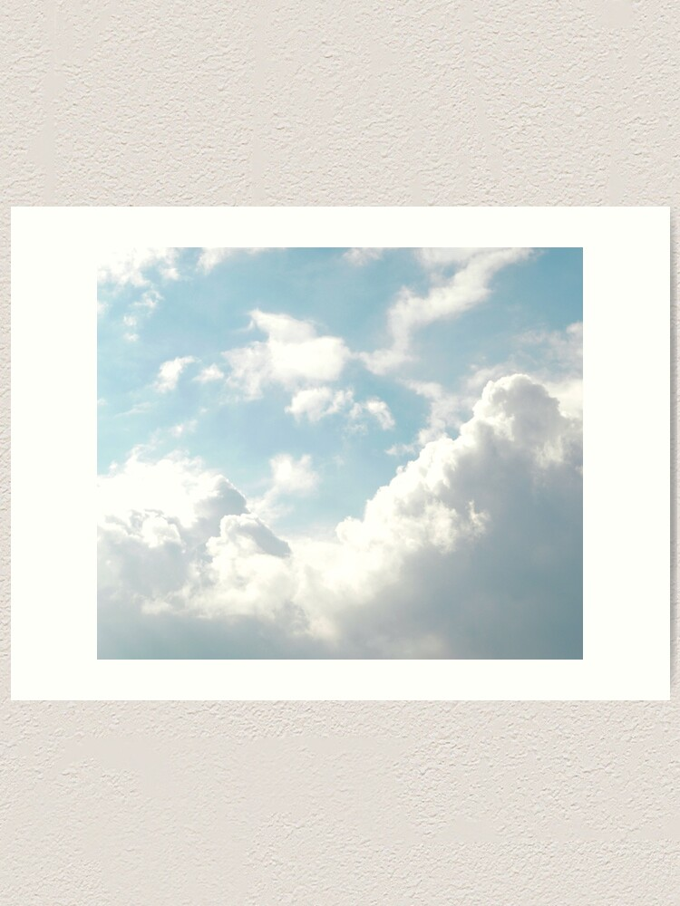 Alternate view of Shiny blue and white clouds Art Print