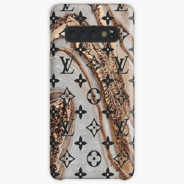 Louis V White and gold marble Samsung Galaxy Snap Case