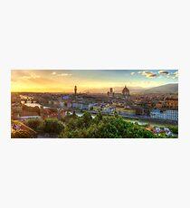 Florence Sunset Fotodruck
