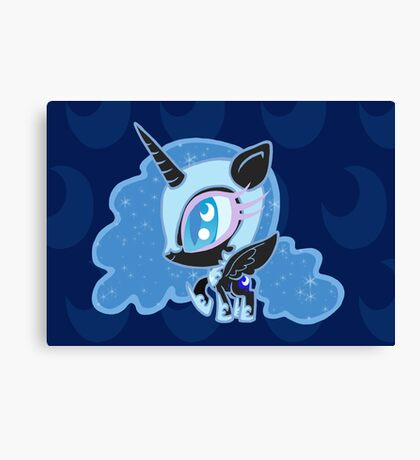 Weeny My Little Pony- Nightmare Moon Canvas Print