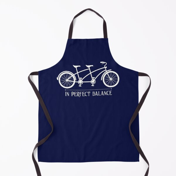 In Perfect Balance Two-Wheeler Tandem Bike Graphic Apron