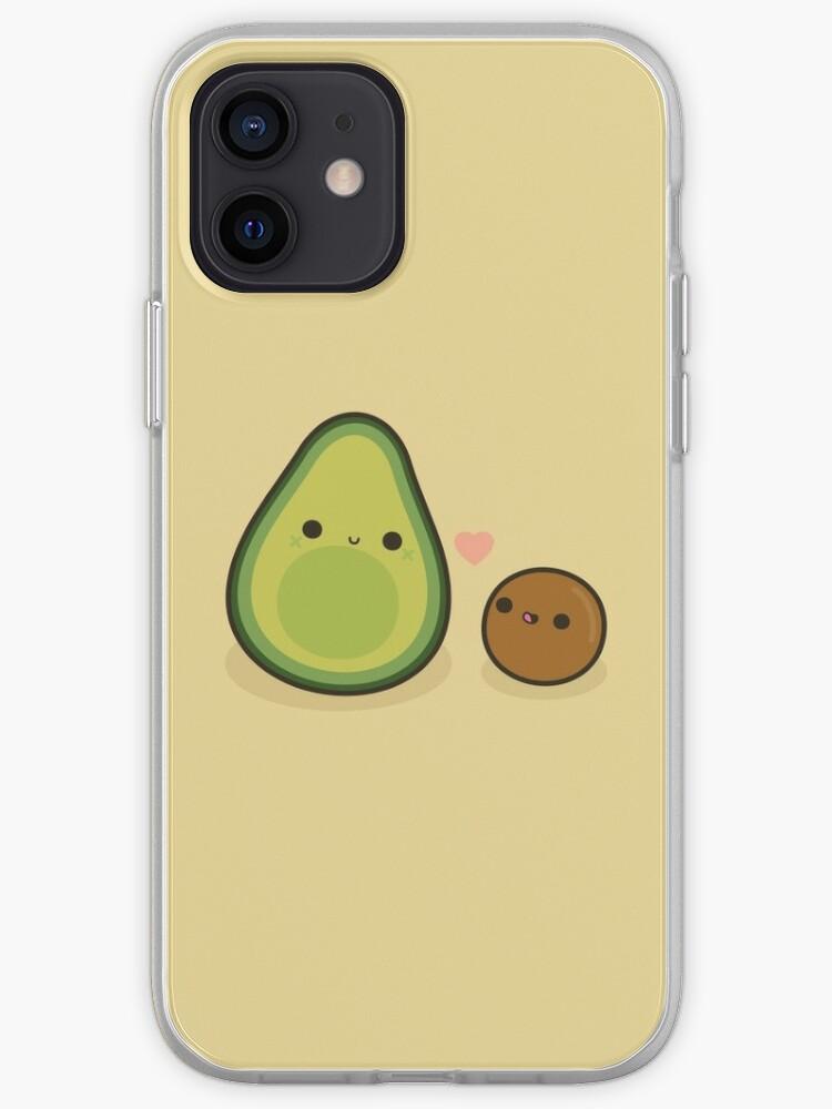 Avocat mignon et pierre | Coque iPhone