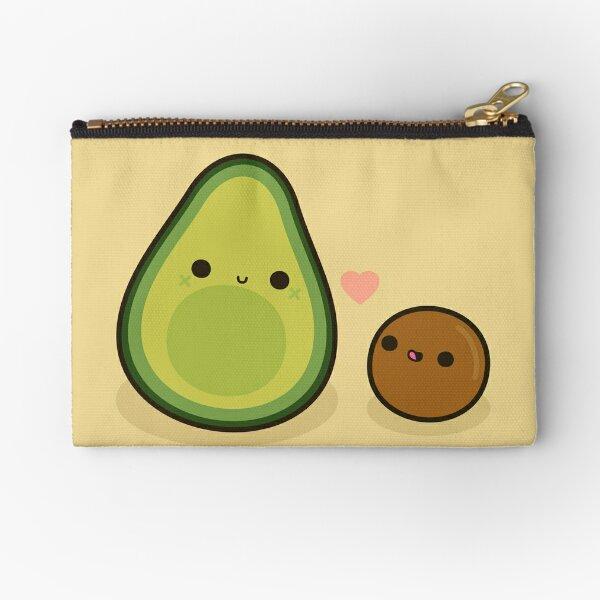 Cute avocado and stone Zipper Pouch