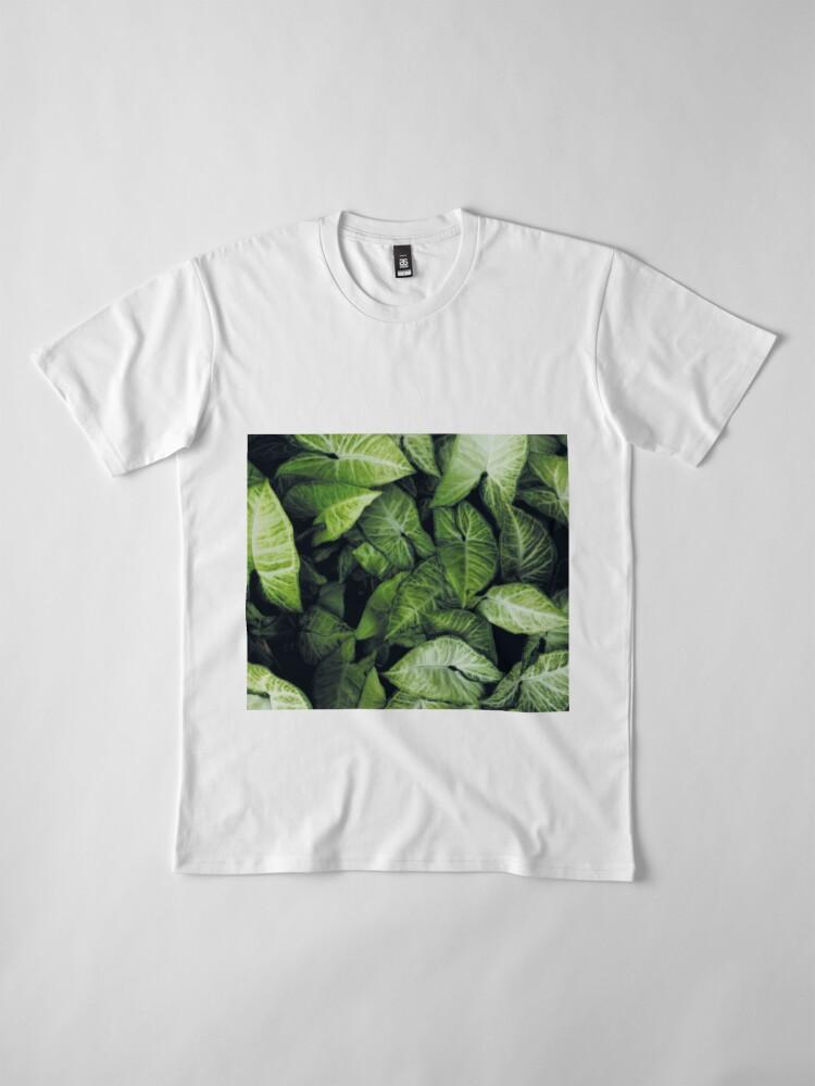 Alternate view of Green leaves Premium T-Shirt