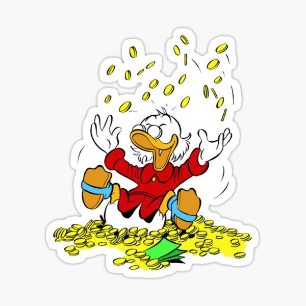 Uncle Scrooge Happy Shower Sticker