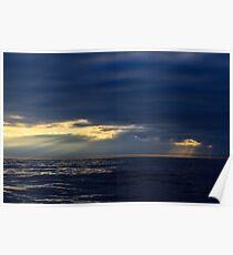 Sunset Bay of Biscay Poster