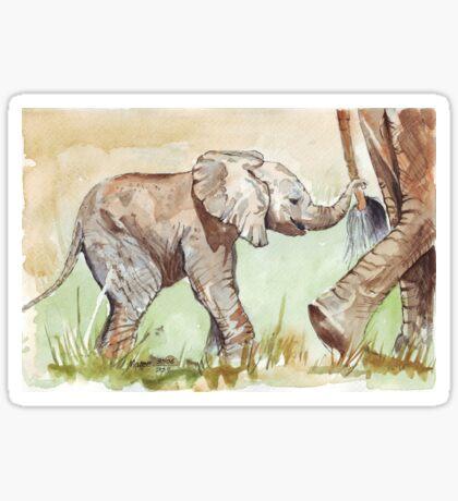 Baby Elephant walk Sticker
