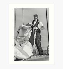 Hoisting sail Art Print