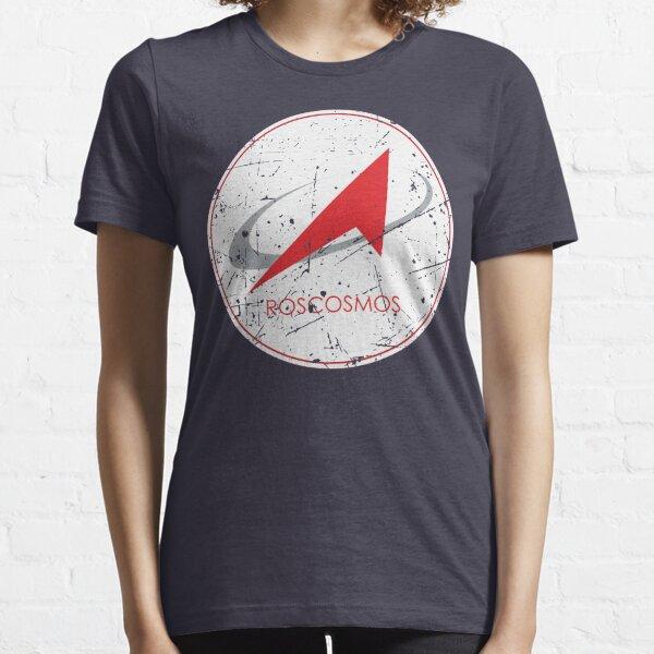 Russian Federal Space Agency Roscosmos Logo  Essential T-Shirt