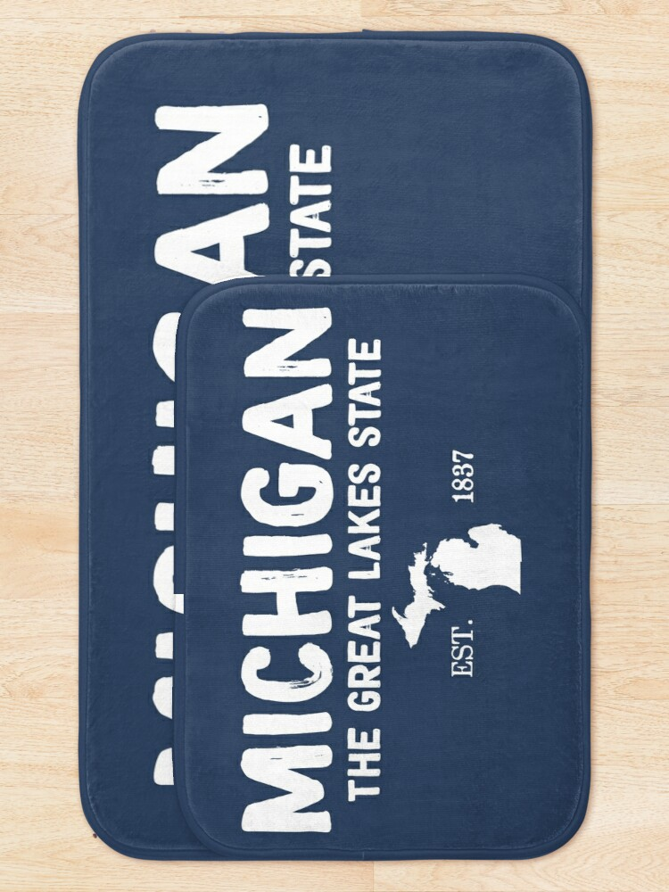 Alternate view of Michigan Is The Great Lakes State Bath Mat