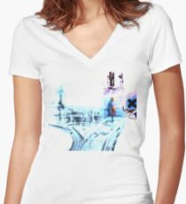 Radiohead - Ok Computer  Women's Fitted V-Neck T-Shirt