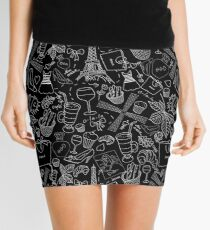 - Walking in Paris pattern 2 - Mini Skirt