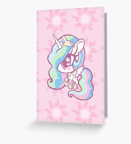 Weeny My Little Pony- Princess Celestia Greeting Card