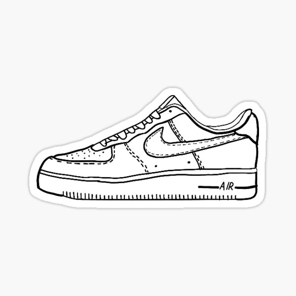 Nike Shoe Air Force One Vsco Sticker