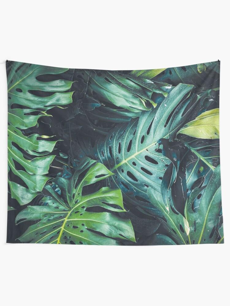 Alternate view of Dark green leaves Tapestry