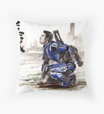 Kaidan from Mass Effect series Sumie style Righteousness Throw Pillow
