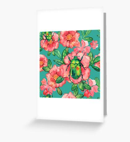 - Wild rose pattern - Greeting Card