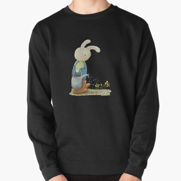 Ask Me About My Plants, Rabbit in the Garden Pullover Sweatshirt