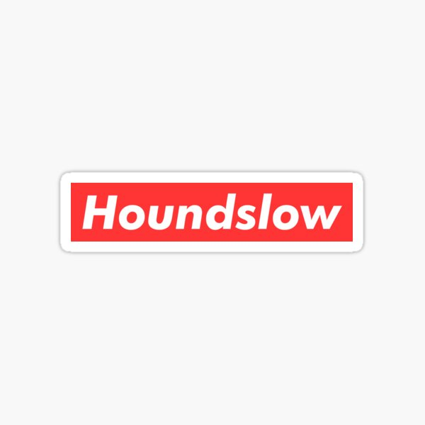Houndslow t-shirt supreme logo design Sticker