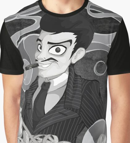 Gomez Addams- Black and White version Graphic T-Shirt
