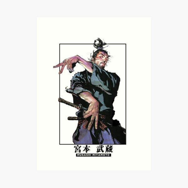 musashi miyamoto-Art colored panel collection Art Print