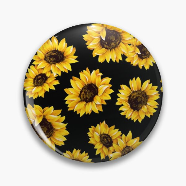 Sun flowers floral pattern - yellow flower Pin