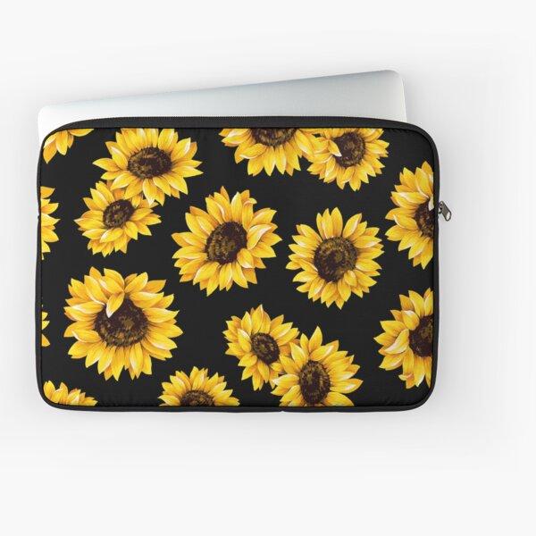 Sun flowers floral pattern - yellow flower Laptop Sleeve