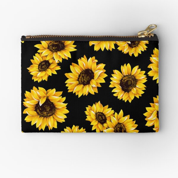 Sun flowers floral pattern - yellow flower Zipper Pouch