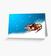 Walking in a Winter Vaderland Greeting Card
