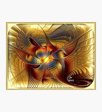 GOLDEN DANCING DRAGON Photographic Print