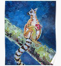 Coffee Lemur Poster