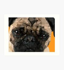 Puggy Pug Art Print