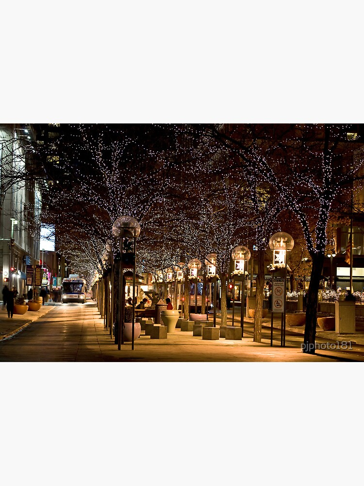 Christmas In Denver Colorado.16th Street Mall In Denver Colorado At Christmas Time Photographic Print