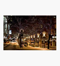 16th Street Mall in Denver, Colorado at Christmas time. Photographic Print